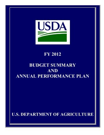 FY 2012 BUDGET SUMMARY AND ANNUAL PERFORMANCE PLAN