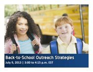 Back-to-School Outreach Strategies