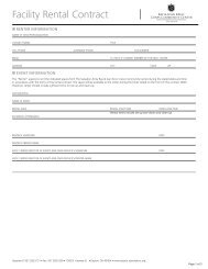 Facility Rental Contract