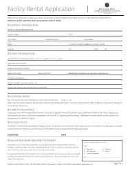 Facility Rental Application