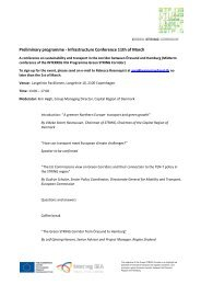 Preliminary programme - Infrastructure Conference 11th of March