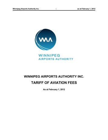 TARIFF OF AVIATION FEES