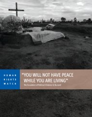 you will not have peace while you are living - Human Rights Watch