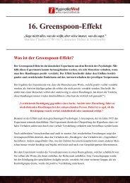 Greenspoon-Effekt Erklärt