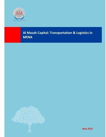Al Masah Capital Transportation & Logistics in MENA