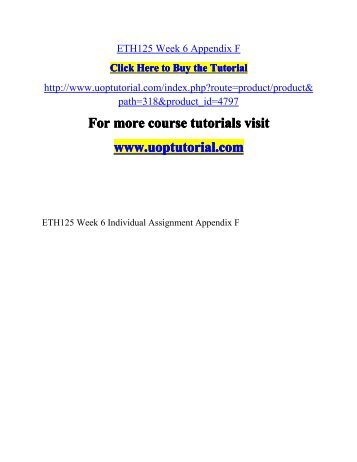 psy 490 week 1 individual essay example