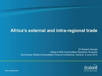 Africa's external and intra-regional trade