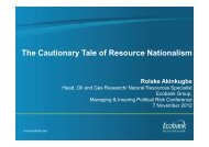 The Cautionary Tale of Resource Nationalism