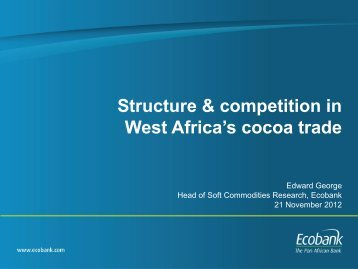 West Africa's cocoa trade