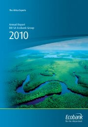 France annual report 2010 - Ecobank