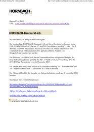 Informationen zum Aktienrückkauf für die jährliche Ausgabe von ...