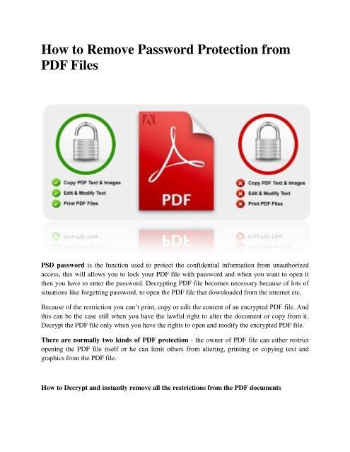 Decryptor pdf password