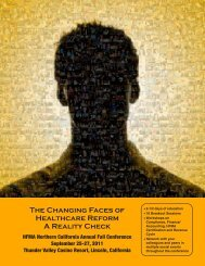 The Changing Faces of Healthcare Reform A Reality Check