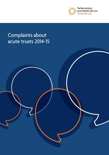 Complaints about acute trusts 2014-15