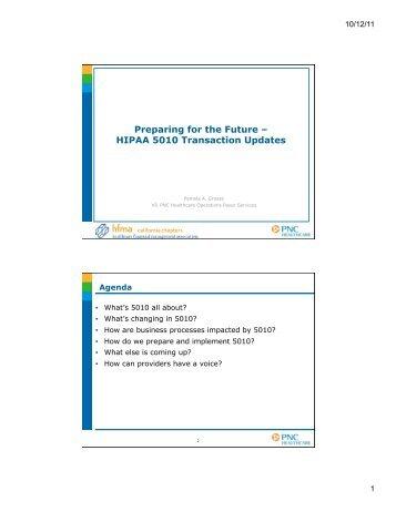 Preparing for the Future – HIPAA 5010 Transaction Updates