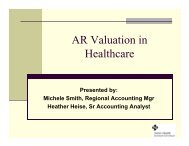 AR Valuation in Healthcare