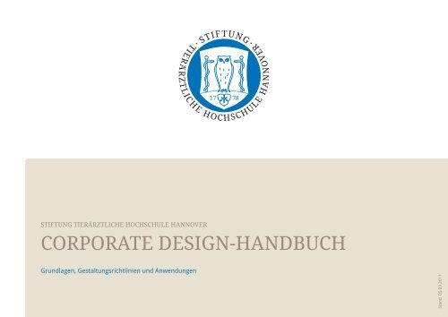 Corporate Design Handbuch Tierärztliche Hochschule Hannover