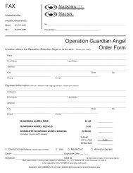 FAX Operation Guardian Angel Order Form