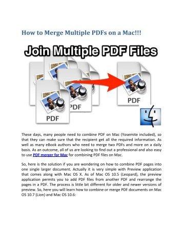 merge two pdf files into one mac