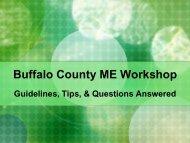 Buffalo County ME Workshop