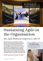 Sustaining Agile in the Organisation
