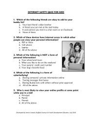 internet safety quiz for parents of young children - Buffalo County