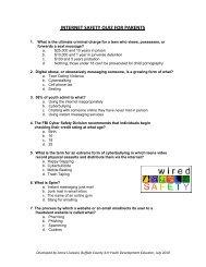 INTERNET SAFETY QUIZ FOR PARENTS