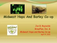 Midwest Hops and Barley Co-op
