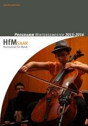 HfM-Programm Wintersemester 2015-16