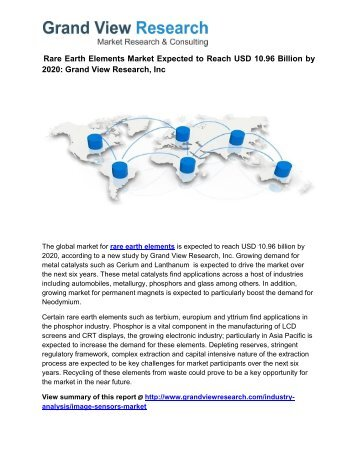 Rare Earth Elements Size, Segmentation To 2020: Grand View Research, Inc.