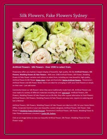 Fake wedding flowers Sydney