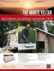 Bachman Academy Mission Trip
