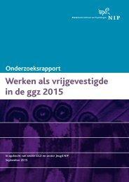 Werken als vrijgevestigde in de ggz 2015