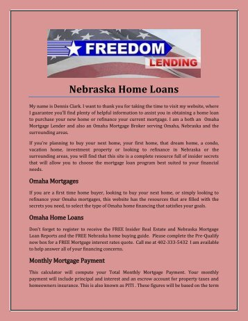 Nebraska Home Loans
