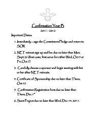 Confirmation Year B