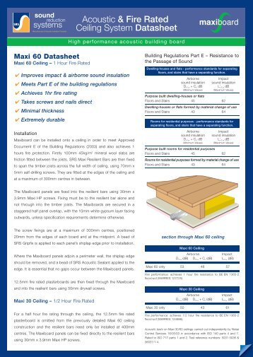 Acoustic & Fire Rated Ceiling System Datasheet