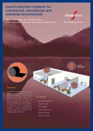 Coustifoam - Sound Reduction Systems Ltd.