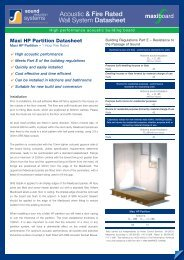 Acoustic & Fire Rated Wall System Datasheet