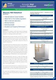 Acoustic Wall System Datasheet