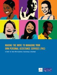 MAKING THE MOVE TO MANAGING YOUR OWN PERSONAL ASSISTANCE SERVICES (PAS)