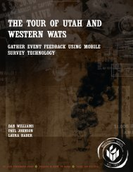 THE TOUR OF UTAH AND WESTERN WATS