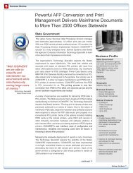 case study - State government 05-02-07.qxp - Solimar Systems, Inc.