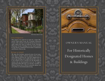 For Historically Designated Homes & Buildings