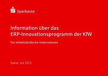 Information über das ERP-Innovationsprogramm der KfW