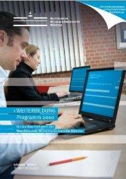 Verbindliche Anmeldung zum Weiterbildungsprogramm 2010