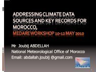 Addressing Climate data Sources and Records for Morocco. By Mr ...
