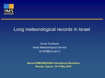 Long meteorological records in Israel