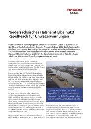 Niedersächsisches Hafenamt Elbe nutzt RapidReach für - Swissphone