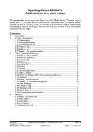 Operating Manual RE429NT+ Quattrino tone, eco ... - Swissphone