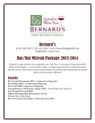 Bernard's Bar/Bat Mitzvah Package 2013-2014